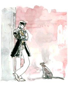 Hugo Pratt - Corto Maltese: Fable of Venice Comics Toons, Bd Comics, Art And Illustration, Comic Book Artists, Comic Artist, Maltese, Hugo Pratt, Bd Art, Comic Kunst