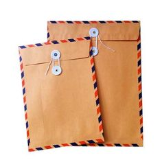 Long live snail mail!  String & Button airmail envelopes I am ABSOLUTELY IN LOVE with these!!!