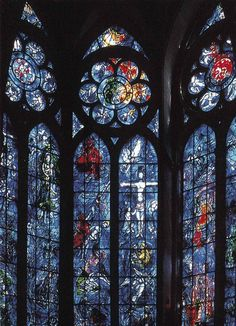 Stained Glass Windows, Reims Cathedral - Marc Chagall