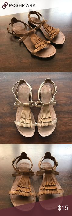 Fringe sandals Fiesty in fringe! This sandal is a perfect statement piece in your wardrobe. No holds, trades. Mossimo Supply Co. Shoes Sandals
