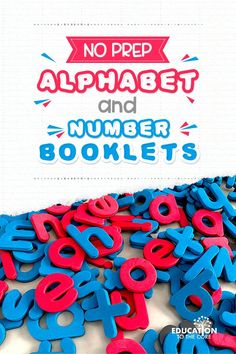 Kindergarten and preschool teachers and parents... we have made no prep alphabet and number booklets just for you! So simple to use... just PRINT and GO! Preschool Teachers, Kindergarten Classroom, Writing Words, Writing Practice, Teen Numbers, Letter Identification, Tens And Ones, Picture Letters, Uppercase And Lowercase Letters