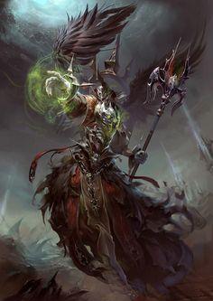 """Lich"" by Yu Cheng Hong (yuchenghong) | #Fantasy #Monsters #Undead #Magic"