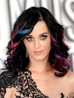 katy perry  colorful highlights