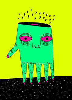 Fluo illustrations by Marco Oggian, via Behance
