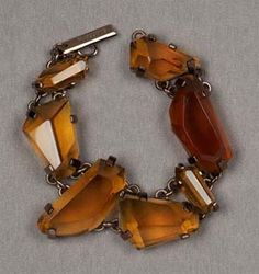 Faceted Amber bracelet
