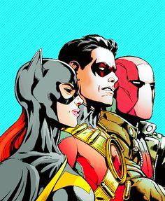 Barbara, Tim and Jason in Batman and Robin #34