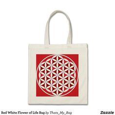 Red White Flower of Life Bag