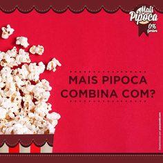 Mais Pipoca combina com o que, para você? :D    #maispipoca #combina #pipoca #maquinadepipoca #pipocagourmet #pipocasalgada #pipocadoce #pipocafit #comida #top #fit #fitness #popcorn #saudável #saúde #comidafit Fitness, Popcorn Machines, Candy Popcorn, Gourmet Popcorn