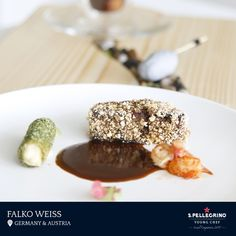Falko Weiß will represent Germany & Austria with his signature dish entitled 'City/Land/River' of stewed pork belly, crawfish and tea time fond,