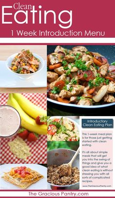Get the FREE calendar version to help you get started with clean eating! Great for more experienced clean eaters as well. #CleanEating #MealPlans