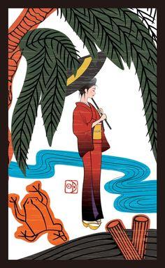 Japanese card game of Bijinga by Akiko Takemoto