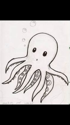 Molusquito pulpo octopus sea cute nice lovely sketch
