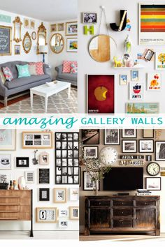 how to make an eclectic gallery wall. lots of ideas!