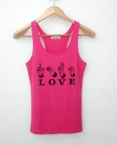 LOVE Text  Tank Top  Women Shirt  Women Tank Top by simladytshirt, $15.99