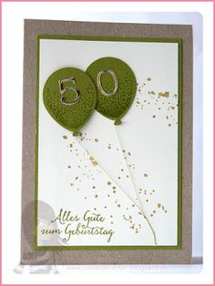 Stampin' Up! rosa Mädchen Kulmbach: Geburtstagskarte mit Partyballons und Wink of Stella You are in the right place about diy anniversary decorations Here we offer you the most beautiful pictures abou