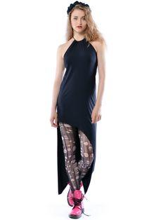 Sabrina - asymetryczna sukienka odsłaniająca nogi