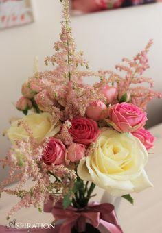 Pink flower bouquet Buchet cu flori roz Aspiration Events Pink Flower Bouquet, Pink Flowers, Wedding Designs, Floral Wedding, Floral Wreath, Events, Wreaths, Table Decorations, Home Decor