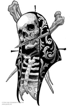 Evil Skull Tattoo, Skull Hand Tattoo, Skull Tattoos, Black Tattoos, Body Art Tattoos, Sleeve Tattoos, Forearm Tattoo Design, Tattoo Design Drawings, Skull Tattoo Design