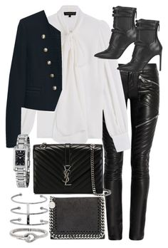 """""""Untitled #19289"""" by florencia95 ❤ liked on Polyvore featuring Yves Saint Laurent, Barbara Bui, MANGO, BOSS Hugo Boss, Burberry, STELLA McCARTNEY and Acne Studios"""