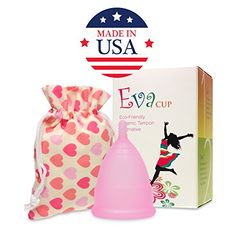 Anigan EvaCup (Made in USA) - Menstrual Cup (Cherry Blossom, Small) Newly Listed