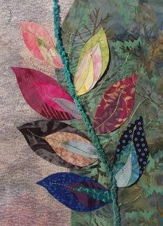 Applique Quilts, Embroidery Applique, Machine Embroidery, Small Quilts, Mini Quilts, Fabric Art, Fabric Crafts, Quilting Projects, Art Projects