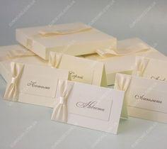 Банкетные карточки Элегантные айвори - гостевые рассадочные карточки ручной работы, выполненные в едином стиле с другими аксессуарами от Шик Европейский
