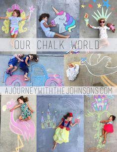 Chalk Art, Kids sidewalk chalk, creative kid idea, outside kid activities, chalk. Drawing For Kids, Art For Kids, Projects For Kids, Crafts For Kids, Art Projects, Chalk Photography, Outside Activities For Kids, Baby Activities, Outdoor Fun For Kids