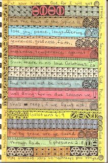 Susan Sauls' Art Pages: Scripture Journal Pages