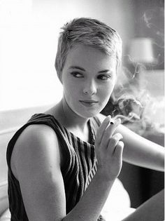 Jean Seberg during the filming of `Breathless' 1959,  wearing`The' pixie cut and Paris street fashion. Her look ca n be seen in everything from beatnik to punk to haute coutre.