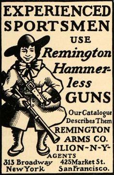 1900 Ad Remington Arms Company Colonial Hunter