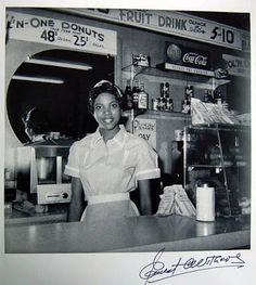 Helen Ann Smith at Harlem House on Beale St. Memphis, 1950´s By Ernest C. Withers