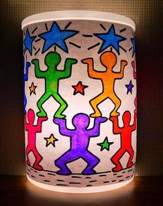 Library Arts: Keith Haring Inspired Night Light