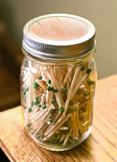 Store your matches for starting the fire in a small mason jar - add the striking paper to the top of the lid.