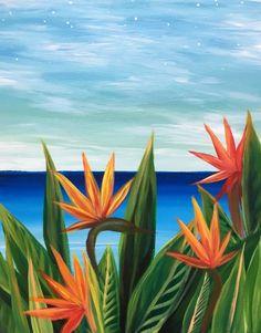 Aloha Birds of Paradise - Paint Nite Painting
