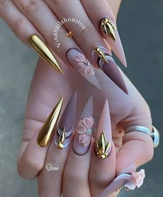 Halloween Acrylic Nails, Bling Acrylic Nails, Bling Nails, Swag Nails, Grunge Nails, 3d Nails Art, Nagellack Design, Nagellack Trends, Witchy Nails