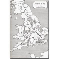 Trademark Art 'Map of Britain in 792' Canvas Art, Size: 16 x 24, Multicolor