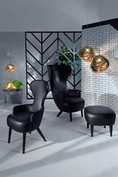 @tomdixonstudio  Wingback Black Sessel #tomdixon #wingback #sessel #leuchten zu finden bei http://www.flinders.de/tom-dixon/