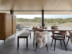 knud holscher builds residence in the danish island of fanø with interiors by staffan tollgard Nordic Interior, Best Interior Design, Danish Interior Design, Beige Living Rooms, Floor To Ceiling Windows, Nordic Design, Scandinavian Design, Danish Design, Living Room Designs