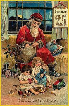 saint nicolas - Page 4 Vintage Christmas Images, Victorian Christmas, Vintage Holiday, Christmas Pictures, Old Time Christmas, Christmas Scenes, Christmas Art, Father Christmas, Vintage Clip