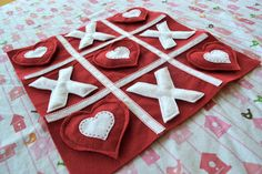 First Lady of the House: Valentine Felt Tic Tac Toe Game