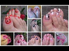 Unhas decoradas - YouTube Manicure E Pedicure, Toe Nails, Nailart, Eyeliner, Nail Designs, Hair Beauty, Pretty Pedicures, Feet Nails, Nails Plus