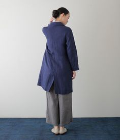 Runa Shop Coat: Blue Violet