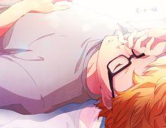 gambar megane, sleep, and cute anime boy