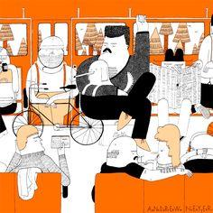 Ilustração criada pelo americano Andrew Neyer para o KoniZine