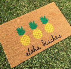 Aloha Strände Ananas Fußmatte / Ananas Decor von NickelDesignsShop