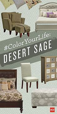 DESERT SAGE: #Gray has had a lot of success with interior designers as an earthy color. This fall, play it cool and subtle with a gray that has a greenish tone to it. Use #Desert Sage to bring refined elegance and serenity to the room. The #greenish gray Desert Sage is a lovely neutral color that will at once bring sophistication and  character to the space, without making it seem overloaded. Pair with taupe, brown or lichen green to reveal it's real subtlety.