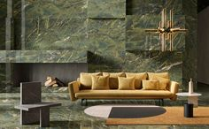 VERDE KARZAI Sofistikert og annerledes! Leverandør: Ariostea Formater: 300x150, 150x150, 150x75, 75x37,5, 75x75 Couch, Painting, Furniture, Design, Home Decor, Marble, Settee, Decoration Home, Sofa