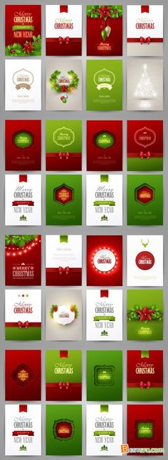 Christmas Brochure Templates Vector