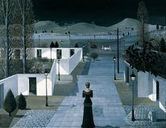 Patrick Nagel, Paul Delvaux, Magic Realism, School Art Projects, Art School, Modern Landscaping, Rest Of The World, A4 Poster, Land Scape