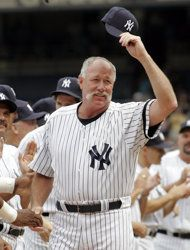 "New York Yankees Hall of Famer Richard ""Goose"" Gossage Damn Yankees, Yankees Fan, New York Yankees, Old Timers Day, Equipo Milwaukee Brewers, Angels Baseball, Yankee Stadium, American League, Sports Pictures"